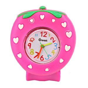 FactoryQB0OKids Slap Strawberry 3D Quartz Silicone Cartoon Watch Wristwatch Creative Pointer Boys Girls Baby Children Wa
