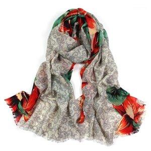 2020 Winterschals für Frauen Tücher Warm Wraps Dame Blume Decke Kaschmir Schal Hals Stirnband Hijabs Stoles Foulard1