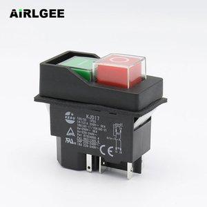 AC250V 16A водонепроницаемый электромагнитный кнопочный коммутатор 5 PINS KJD17 220-240V катушка магнитный стартер силовой инструмент безопасности коммутаторы Y200407