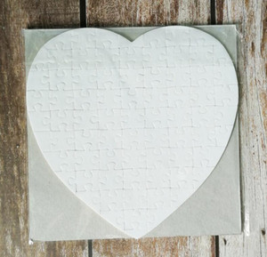 Sublimation Leerer Perle Light Pager Puzzles Herz Liebesform Puzzle Hot Transfer Drucken Leere Verbrauchsmaterialien Kinderspielzeug Geschenke DHL