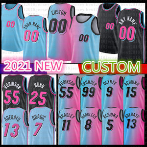 Custom Basketball Jersey Avery Bradley 6 Alonzo Mourning Max Strus Hassan Whiteside Lebron Hassan James Whiteside Andre Olynyk Iguodala Bosh