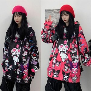 Japanese Kawaii Cute Kuromi Jacket Japan Style Sweet Girl Jackets JK Uniform Cardigan Cartoon Plus Size Harajuku Streetwear Coat