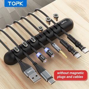 Câble de câble TOLKK Bouchon magnétique BOÎTRE MAGNICONE USB Câble de câble Flexible Câble Gestion Clips pour Souris Titulaire d'écouteurs