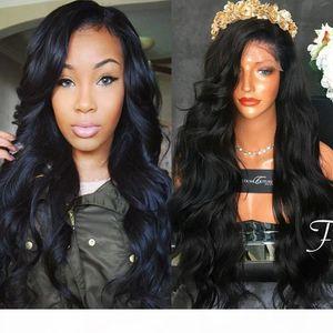 Top Grado Mejor 150% densidad de densidad de densidad total Virgin Malasia grueso espeso cabello humano peluca Glínse Seda Top Full Lace Wig Barato Peluca delantera del encaje del cabello humano