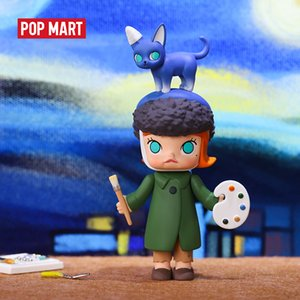 POP MART Molly Auction series Toys figure blind box Action Figure Birthday Gift Kid Toy free shipping Z1120 Z1120