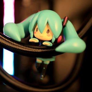 8cm little Miku Cute Action Figure Toys Computer Table Decoration Creative Model