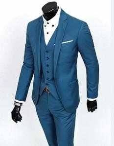 Brand New Groom Tuxedo Groomsmen 4 Colors Wedding Dinner Evening Suits Best Man Bridegroom (Jacket+Pants+Tie+Vest) B19
