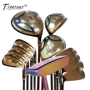 Tigeroar Golf Club Set 13 PCS Men's Set Golf Titanium 1 # 3 # 5 # نوادي الممارسة الخشب للمبتدئين مع حقيبة