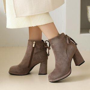 ZOGEER TOKLE BOOTS Mujeres de gamuza de cuero negro 2021 Nuevas botas de tobillo de moda para mujer zapatos otoño invierno motocicleta damas