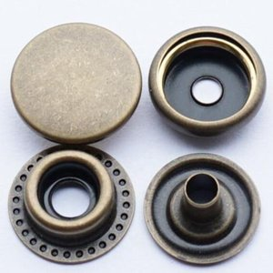 SICODA 50set lot Solid Brass Button Button Metal Snap Botón DIY Sin costura Press Studs Botones Snap Fastener Popper Jllbqx Fight2010