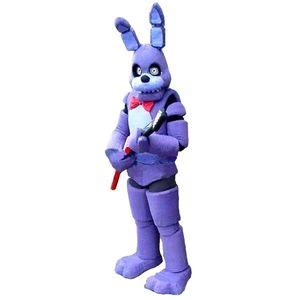 Freddy FNAF Oyuncak Creepy Mor Bunny Maskot Kostüm Suit Cadılar Bayramı Noel Doğum Günü Elbise Yetişkin Boyutu Mavi Fox 0034