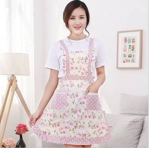 Women Lady Adult Cooking Kitchen Apron Restaurant Home Cooking Chef Bib Aprons Dress Dining Room Barbecue With Pocket