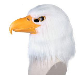 Eagle Headwear Costume Mask Headwear Costume Mask Eagle Mask Carnival Masquerade Funny Masks Cosplay Scary Full Head Latex Masks