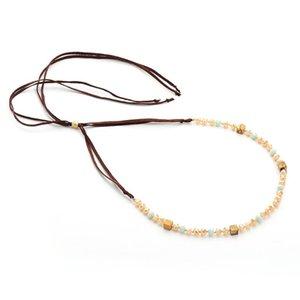 OneQuerter Trendy Böhmen Lange Halsketten Für Frauen Natürliche Perle gebürstet Anhänger Halsketten Schmuck Perlen Kette Choker
