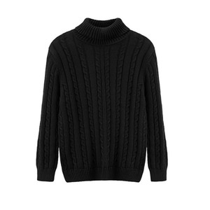 New Korean version of the slim cotton youth sweater men's thick high collar winter sets of casual sweater men's clothing