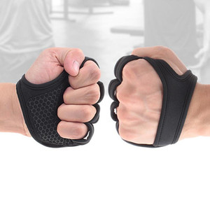 1 Pair Weight Lifting Training Gloves Women Men Fitness Sports Body Building Gymnastics Grips Gym Hand Palm Protector Gloves