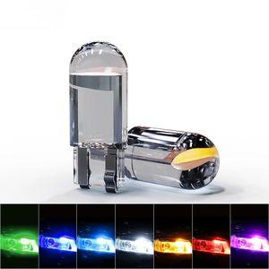 Glass Shell High Bright Original COB T10 W5W 194 168 LED Car Bulb Green Red Blue Amber License Plate Lamp 12V Dome Light