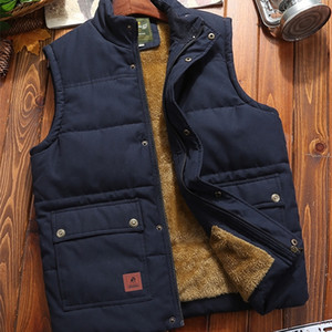Down cotton vest for men's autumn and winter adding down thickening warm vest for middle-aged and elderly men's shoulder jacket