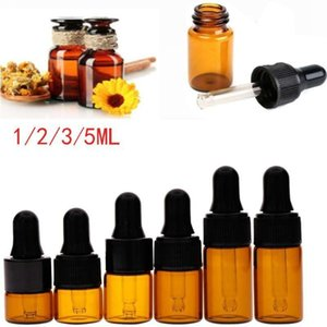 10PCS Empty Dropper Essential Oil Bottle Perfume Travel Amber Container Refillable Portable Makeup Tools & Accessories 1 2 3 5ML