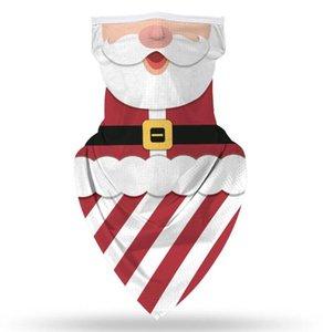 Christmas Face Shield Bandana Face Mask Outdoor Sports Bandana Mask Magic Headscarf Headband Visor Neck Gaiter Christmas Decoration CCA2702