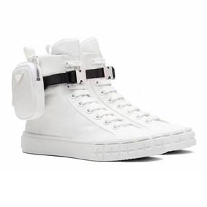 Nouveaux Designers Chaussures Homme Haute Top Top Re-Nylon Sneakers Pour Femmes Hommes Chaussures à lacets Combat Baskets plats Blanc Noir Platch-Plateforme Trainer