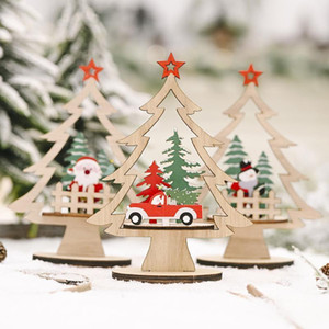 Ornament Wooden Hanging Pendants DIY Xmas Santa Claus Tree Bell Christmas Decorations For Home Party New Year Navidad