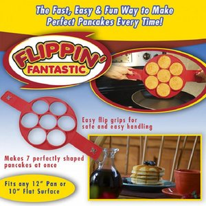 Panquette fantastique Pancake Fantastique Flip Flip Perfect Petit-déjeuner Maker Œufs Omelette Flipjack Outils 7 Grids Pancake Maker HWF4065