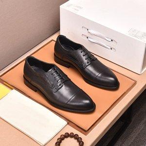 Chaussures de robe en cuir véritable classique pour hommes Oxfords Casual Oxfords Male Brand Business Footwear Flats Taille 38-44