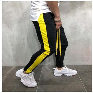 Men New Fashion Mens 2018 Side Strips Patchwork Slacks Trousers Tracksuits Bottoms Slim Fit Casual Joggers Pencil Pants Q1904017