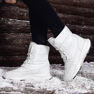 Winter Snow Boots Cheap Sale Mid-Calf Waterproof Plush Warn Anti-Slip Snow Shoes Booties Women's Shoes 201104