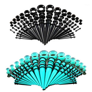 50Pcs Set Hot Acrylic Ear Gauge Taper And Plug Stretching Kits Flesh Tunnel Expansion Body Piercing Jewelry1