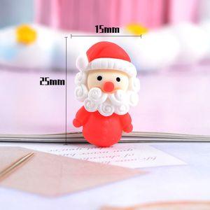 Decorazione di Natale in plastica bella ciondolo cartone animato orecchini clip di capelli spilla collana della resina accessori di Natale cellulare caso tappetino fai da te