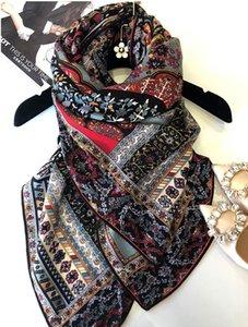 Sciarpe Cashmere Silk Blend Twill Women Classic Stampato Sciarpa quadrato 130x130cm