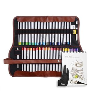 Marco Raffine Belas Artes 48/72 Desenho Lápis Coloridos + Eraser + Luva + Bag + A4 SketchBook 201223