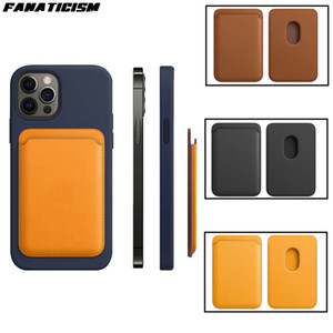 New Leather Wallet Magsafe Card Phone Cases For iPhone 12 Pro Max Magnetic Wallet Card Holder For iPhone 12 Mini Cover