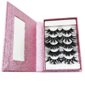 5 pairs a box eyelash book fluffy eyelashes set wholesale mink lashes 25mm fluffy messy 3d fast shipping for wholesale and bulk
