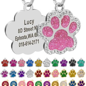 Free Engraved Pet Dog Id Tag Personalized Cat Puppy Id Tag Pet Dog Collar Accessories Custom Dogs Anti-lost Name Tags bbyAhn
