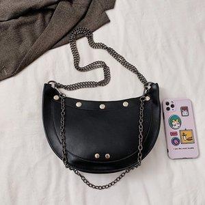 OLSITTI Hohe Qualität Luxus Schulter Crossbody Taschen für Frauen 2020 Große Kapazität PU-Leder Messenger Bag Hälfte Runde Handtasche Q1127