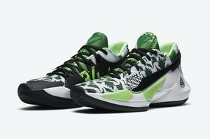 Hot Zoom Freak 2 Naija shoes sale With Box best Giannis Antetokounmpo 2 Black White Basketball shoes store wholesale US7-US12