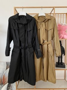 2020 French Luxury Design High Quality Timeless Fall Thin Wide Waisted Belted Hooded Office style Raincoat