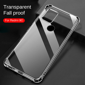 Phone Case For Xiaomi Redmi 9C 9A 9 C C9 Shockproof Transparent Soft Flip Back Cover On Xiomi Poco X3 NFC 10T Pro T10 Lite Armor