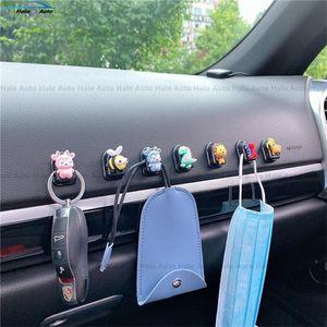 Автомобильное сиденье задняя крюк автомобиль сиденье задняя часть мультфильм мини-крюк творческий милый автомобиль липкий многофункциональный мини-крючок интерьер DHA2832