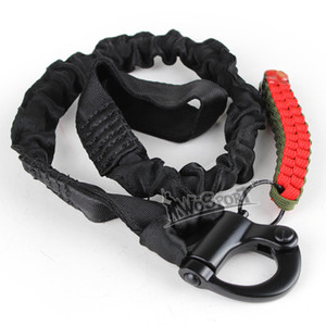 accessories hunting airsoft gear molle system single point sling elastic safety tactical sling Lanyard Line for climbing