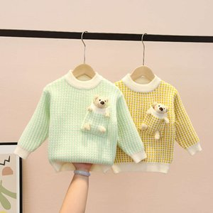 children's sweater Pullover 2020 new base autumn and winter Korean thickened Girls' knitted coat