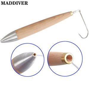 Maddiver 4 veya 6 veya 8 inç Teçhizat Fişler Kurşun Başkanı Ahşap Doğal Sedir Wahoo Tuna Mahi Trolling Lures Tuzlu Su Botu Balıkçılık 201106
