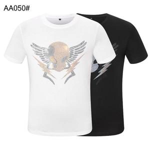 ummer paris mens luxury clothing hot drill t-shirt diagonal letter print t shirt Fashion r tshirts Casu#999