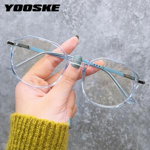 Yooske Anti Blue Lights Lunettes Men's Eyewear Cadres Femmes Bluelight Blocking Ordinateur Spectacles Rétro Lunettes de vue Optique Cadres
