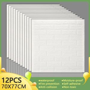 3d ملصقات الحائط ديكور المنزل غرفة المعيشة تقليد الطوب ذاتية اللصق للجدران لوحات للماء نوم المطبخ التلفزيون خلفية 201203