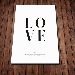 1pcs HD Art Poster Love Letters Poster Wall Picture Canvas Wall Art Painting for Bedroom Wall Décor