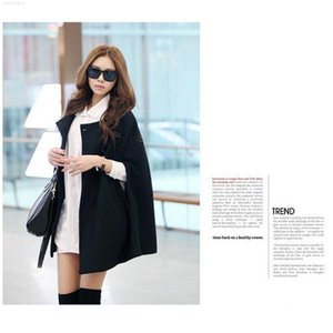 large Women's clothing 2019 Cape new woolen coat medium length Cape cape coat